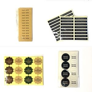 Set of packing stickers supplies handmade labels
